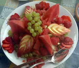 Fruit salad - click for recipe
